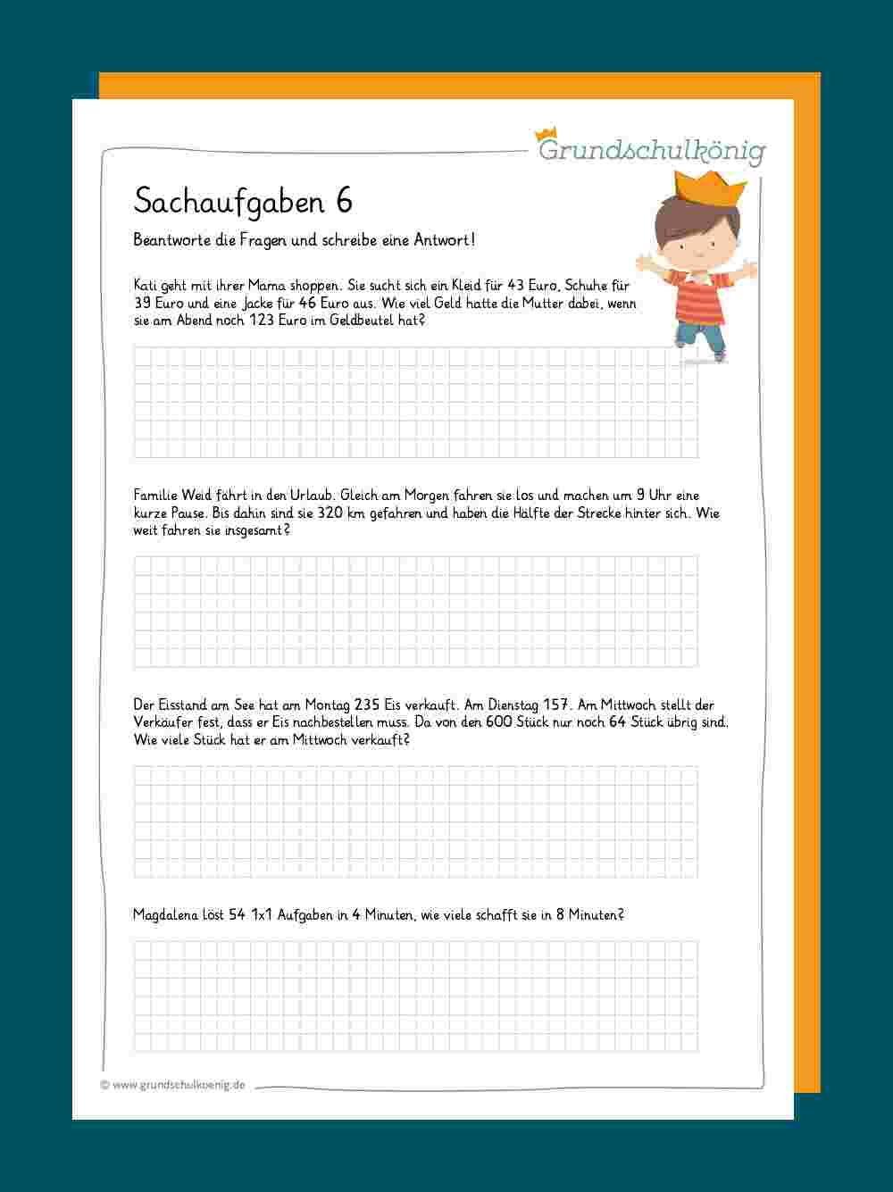 Sachaufgaben Textaufgaben in 2020 | Mathematikunterricht