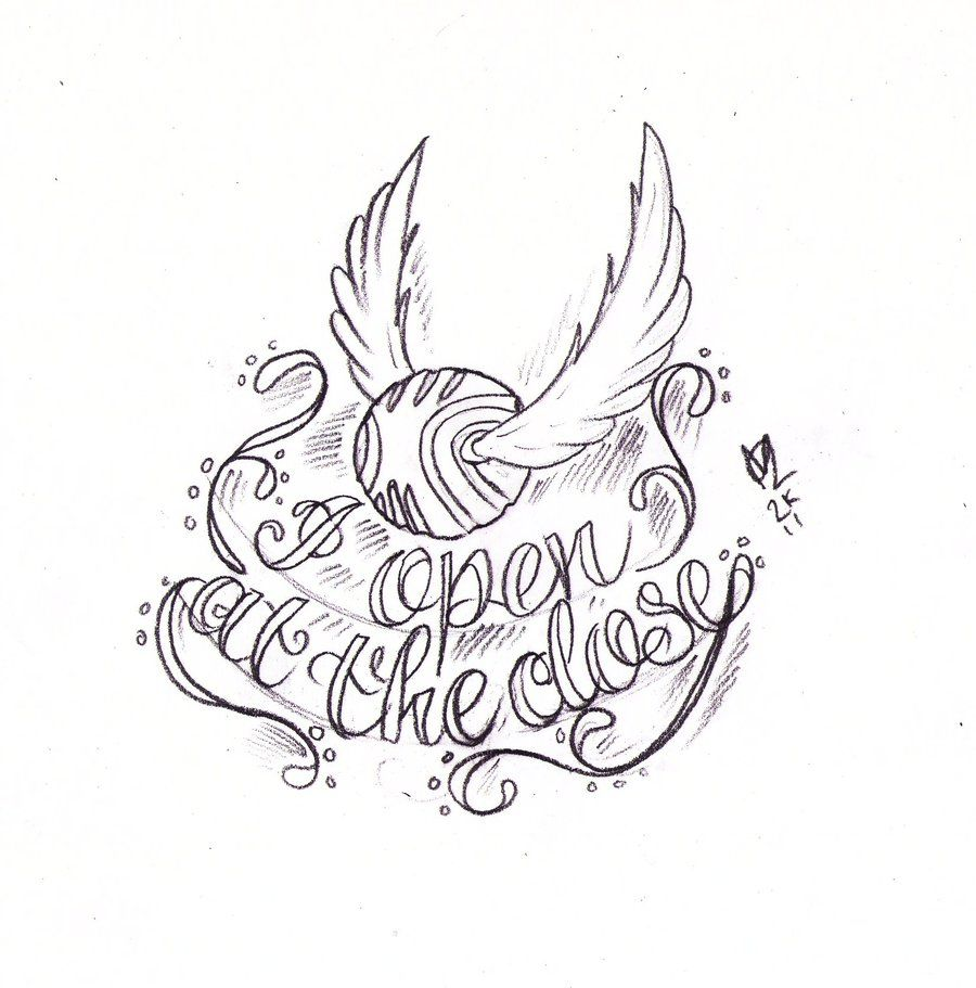 Golden Snitch Tattoo Sketch By Nevermore Ink On Deviantart Harry Potter Sketch Snitch Tattoo Harry Potter Drawings