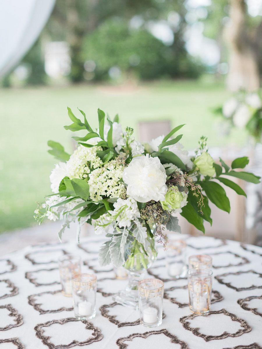 Classic Blush + Gold Wedding in Charleston Wedding table