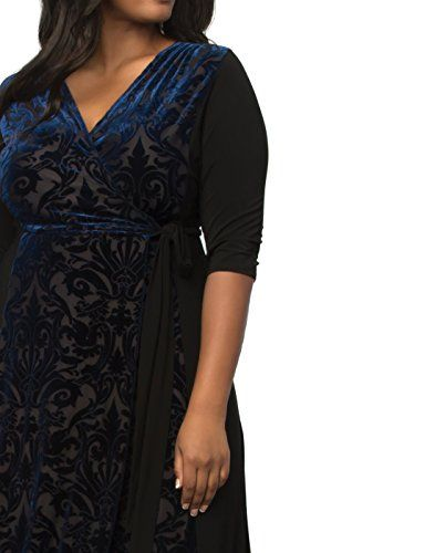 8f2e4590f55 Kiyonna Women s Plus Size Ornate Velvet Maxi Dress