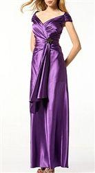 Purple Off Shoulder Gown size large $49