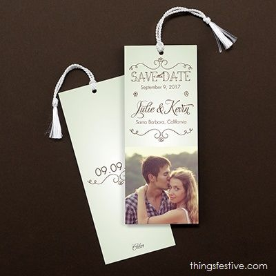 Photo Save The Date Bookmark Wedding Weddinginvitations Savethedates