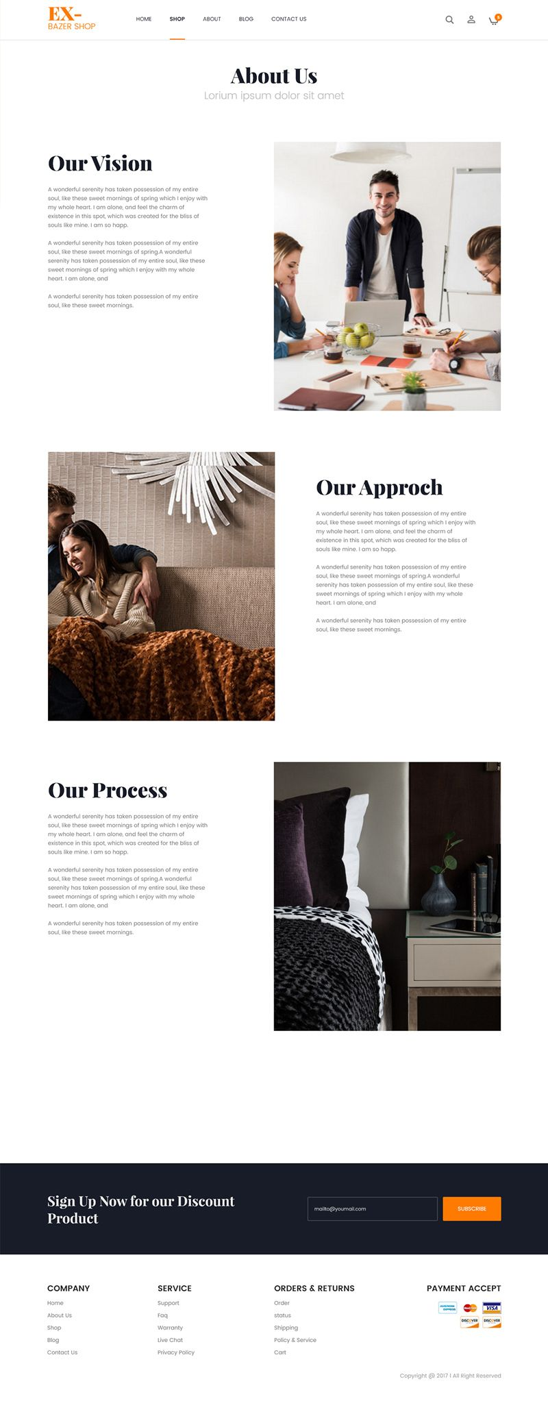 About Us Page Template For An Ecommerce Website About Us Page Design Website Template Design Website Design Layout