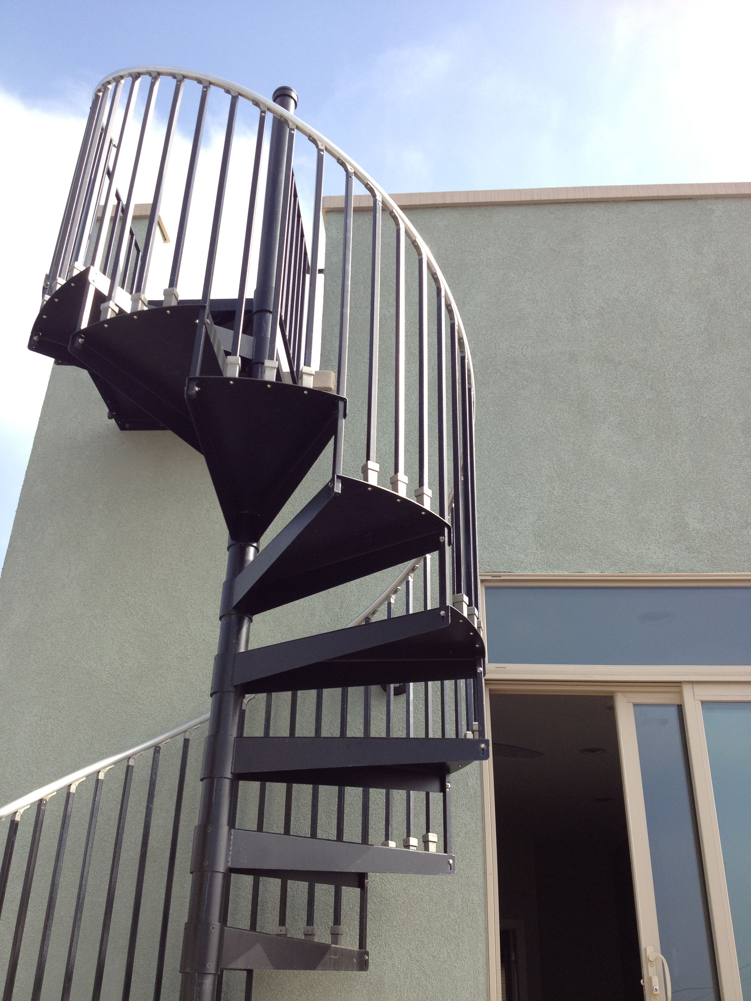 Spiral staircase to roof deck google search addition for Terrace stairs