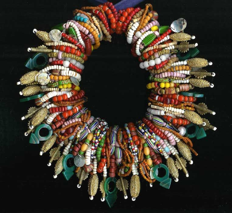 by Carl Dreibelbis | A wonderful necklace that has been put together by Carl using a collection of old and antique trade and african stone and metal beads {he has been an avid collector since the 1970}