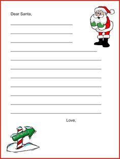 Santa Letter  Letter To Santa    Santa Christmas
