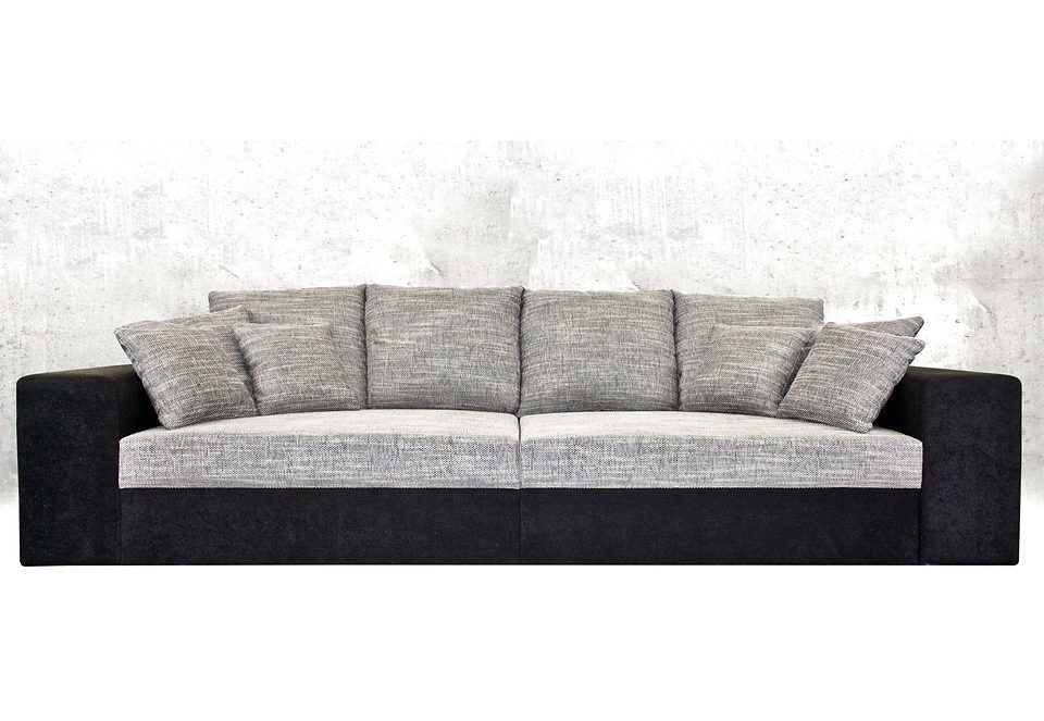 Big-Sofa schwarz, XL, mit Bettfunktion, FSC®-zertifiziert, yourhome - big sofa oder wohnlandschaft