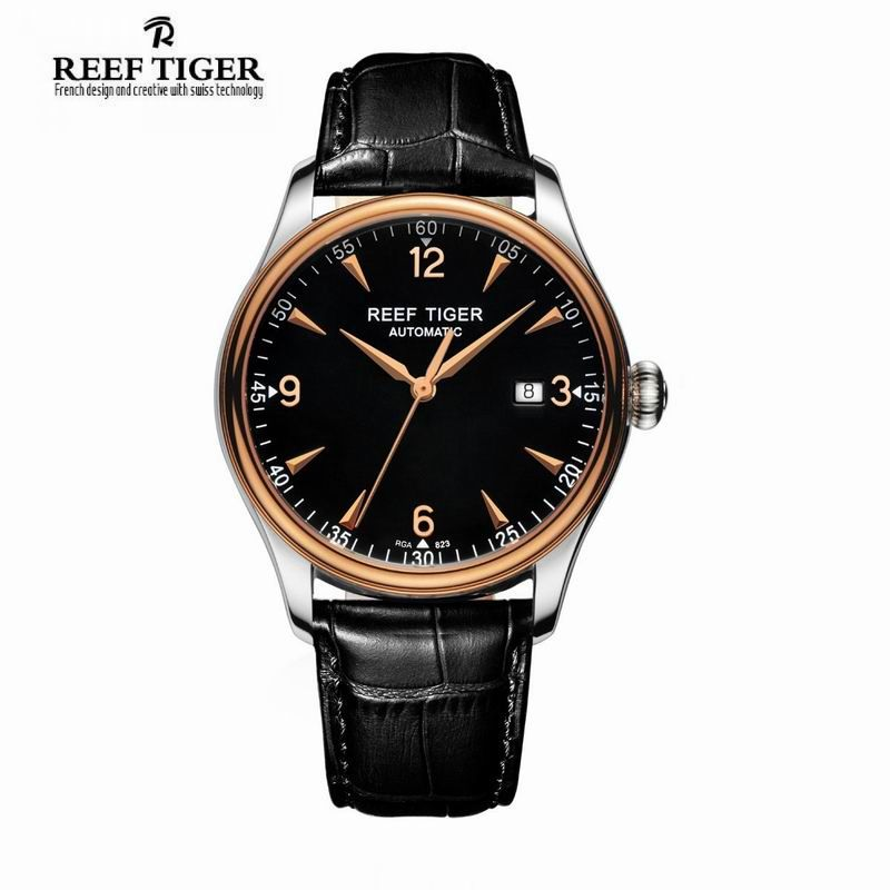 Best Selling Reef Tiger  RT Watches Automatic Men Dress Watch Stainless  Steel Rose Gold Watches 5e2d52f738fe