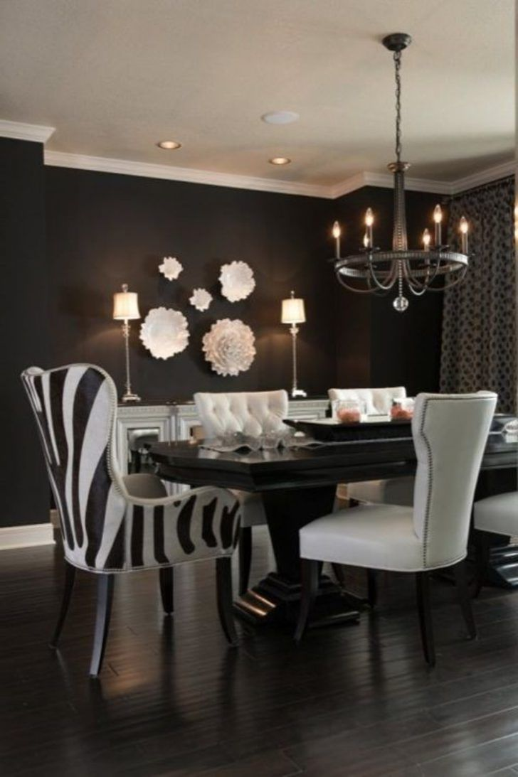 A Zebra Print Accent For Dining Chair Animal