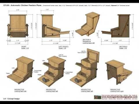CF Chicken Feeder Plans Construction How To Build A Chicken Feeder