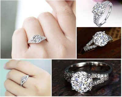 stunning lab created diamond rings cheap halo engagement rings couple ringscom - Cheap Diamond Wedding Rings