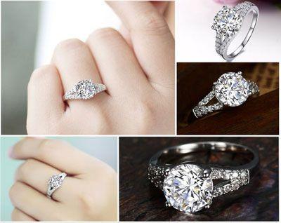 Stunning Lab Created Diamond Rings Halo Engagement