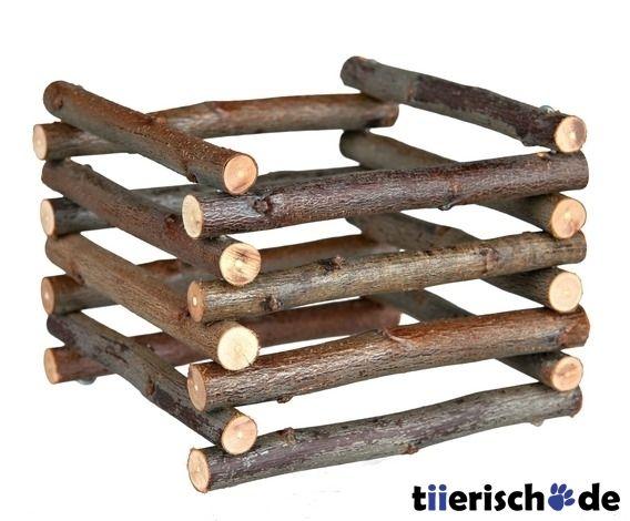trixie heuraufe aus holz zum aufstellen 60982 tiere meerschweinchen spielzeug. Black Bedroom Furniture Sets. Home Design Ideas