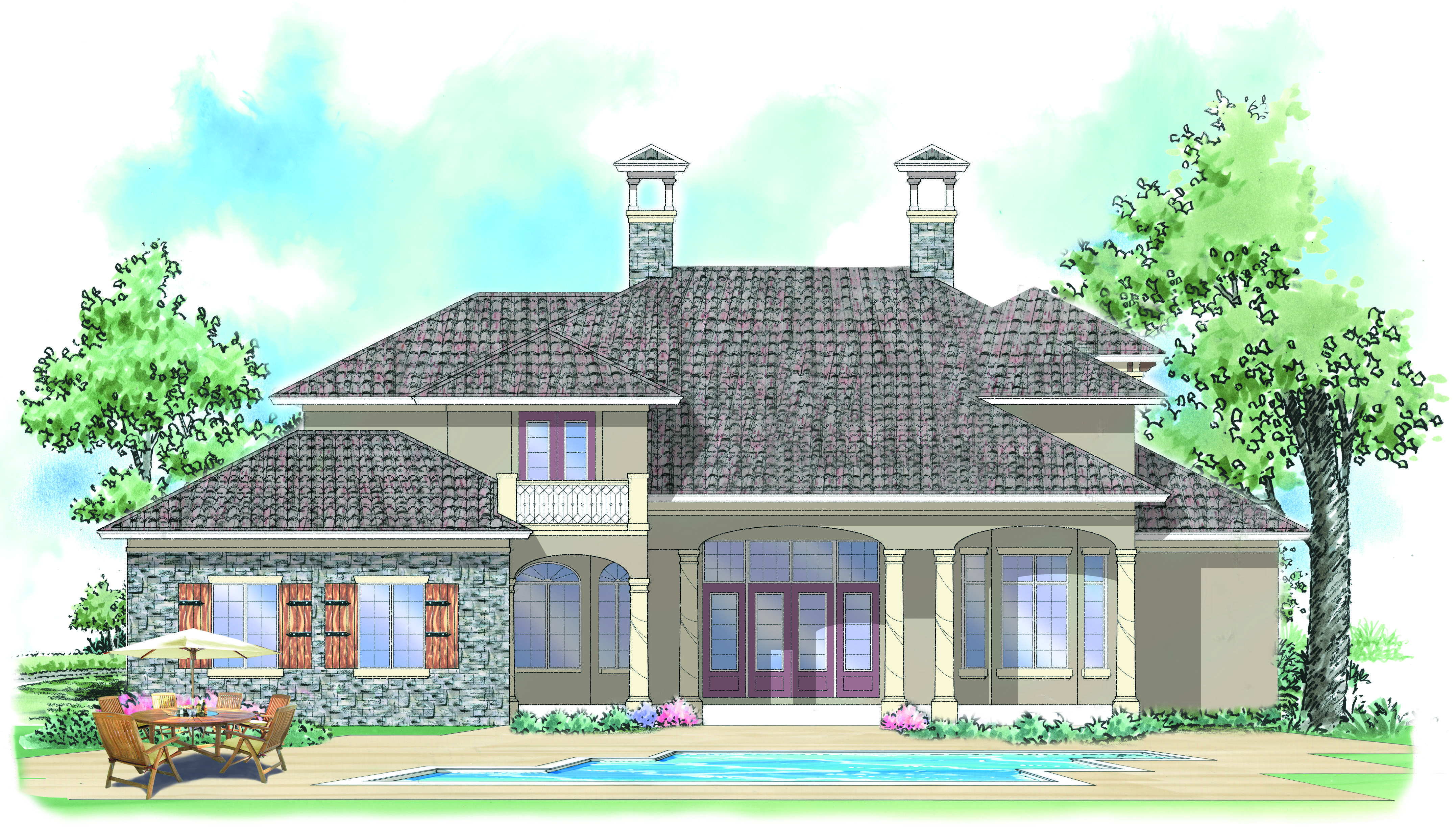 Vienna House Plan | Vienna, Tuscan house plans and Tuscan house