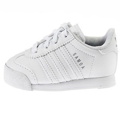 huge discount bfbfb 550b4 ADIDAS SAMOA INFANT S85299 White Silver Toddler Td Shoes Sneakers Baby Size  6
