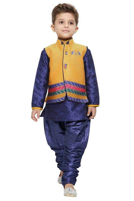 Kids Boys Ethnic Indian Pakistani Sherwani kurta kurtha ...