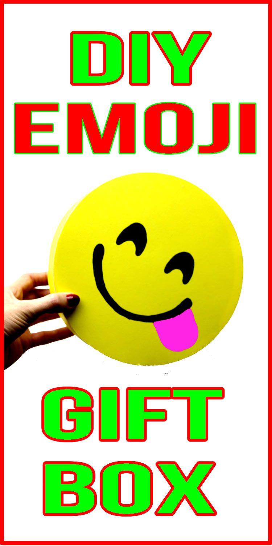 Diy Emoji Gift Box Learn How To Make Your Own Handmade Emoji Gift Box Make This Homemade Diy Gift Box In Just A Fe Emoji Party Favors Emoji Party Emoji Gifts