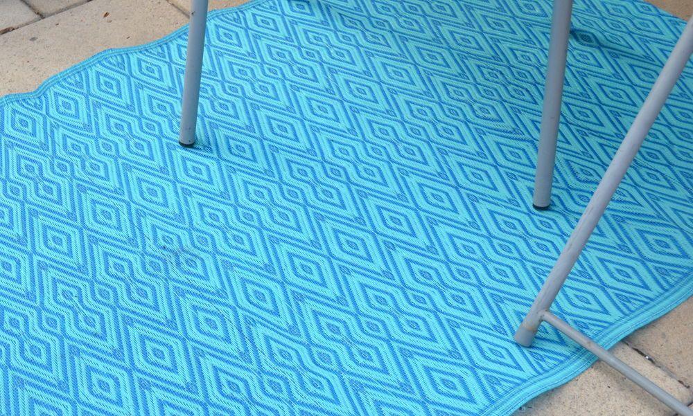 Kunststoff Teppich Läufer Mit Muster In Türkis/blau Für Flur/Diele 90x180cm