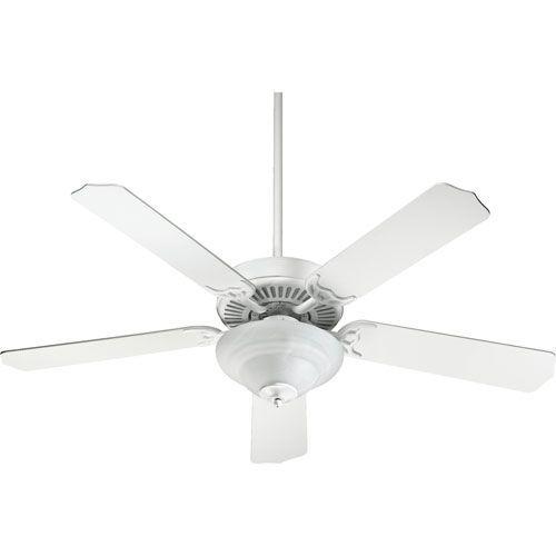 Capri Iv Studio White Energy Saving Two Light 52 Inch Five Blade Ceiling Fan Quorum Intern Ceiling Fan Save Energy Energy Star