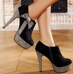 Zapatos negros vintage Find para mujer Do6c8z7Afx