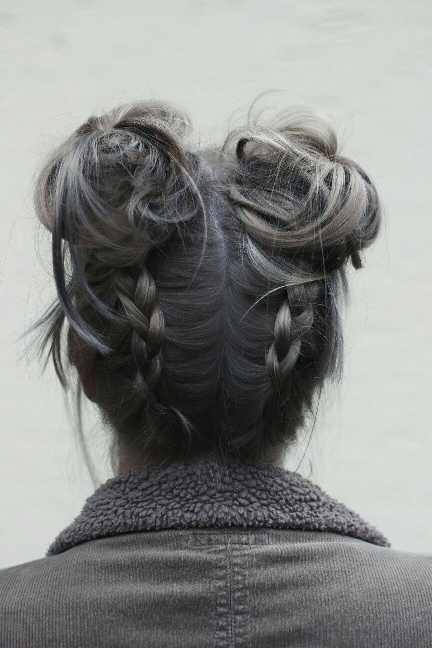 Cool Hairstyle Space Buns Braids Hey Look Its Me Hair