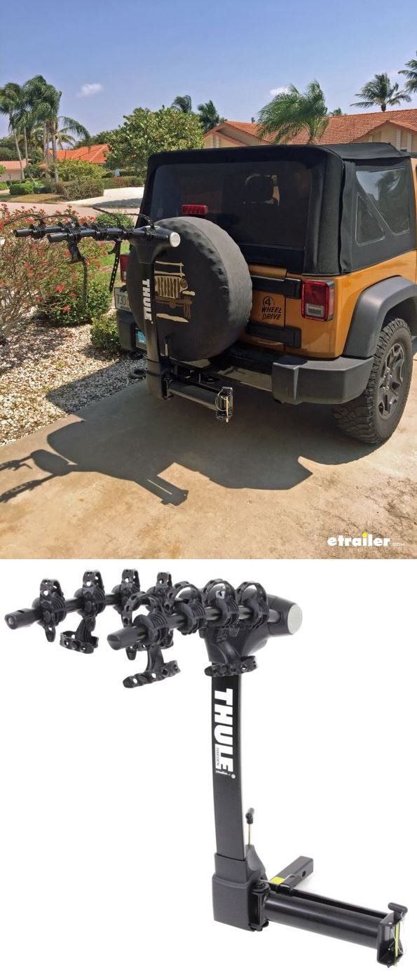 Easily Get Access To Your Jeep Wrangler Swing Gate With This Bike Rack Installed It Swings Out Of The Way Hitch Bike Rack Thule Hitch Bike Rack Jeep Wrangler