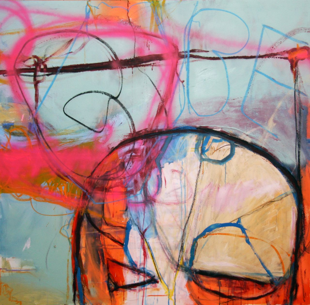 The Unknown Superhero Be - Greg Holden Regan - from the BE WE series. #art #modern #encinitas #abstract #color # painting