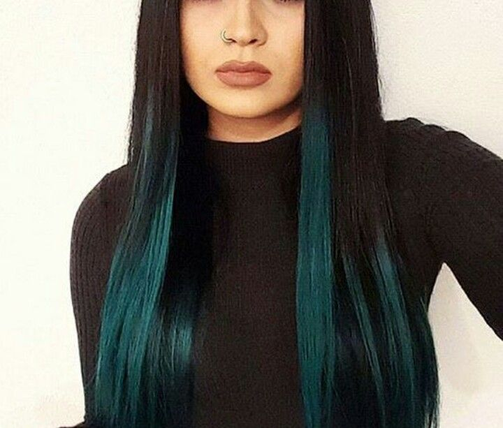 Teal Peekaboo Hair Peekaboo Hair Hair Inspo Color Hair Color For Black Hair