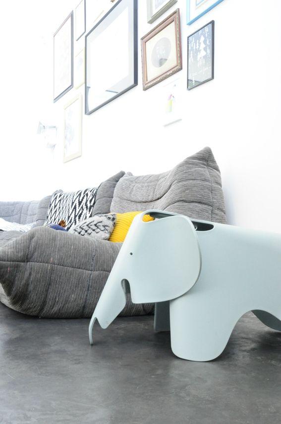 Un loft bien occup  coach deco Lille  Vitra Eames Elephants  Ligne roset Eames et Furniture