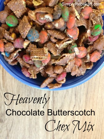 Heavenly Chocolate Butterscotch Chex Mix