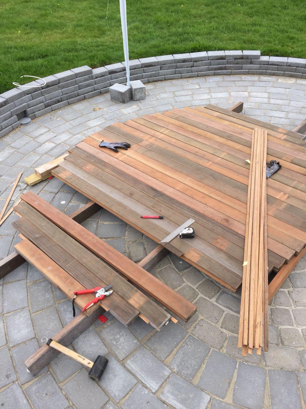 Making the bottom 40x90mm bangkirai sauna en 2019 - Construccion de saunas ...