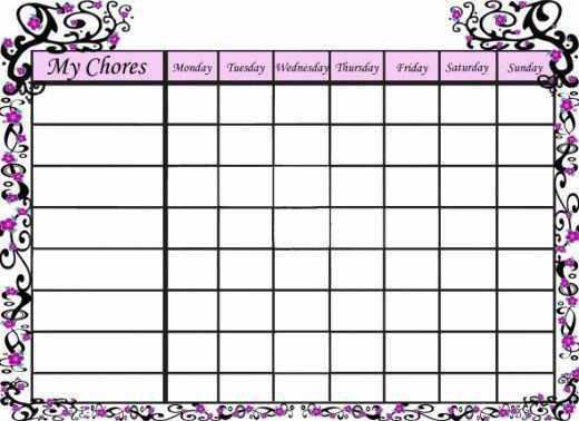 Free Printable Chore Charts That Teach Responsibility