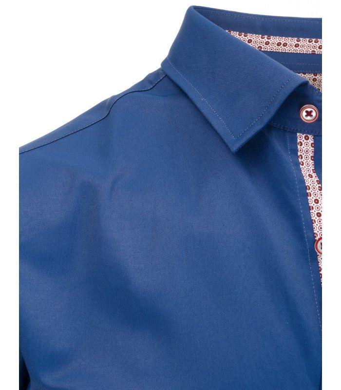 5f063b4e0b70 Pánska elegantná tmavomodrá košela s krátkym rukávom