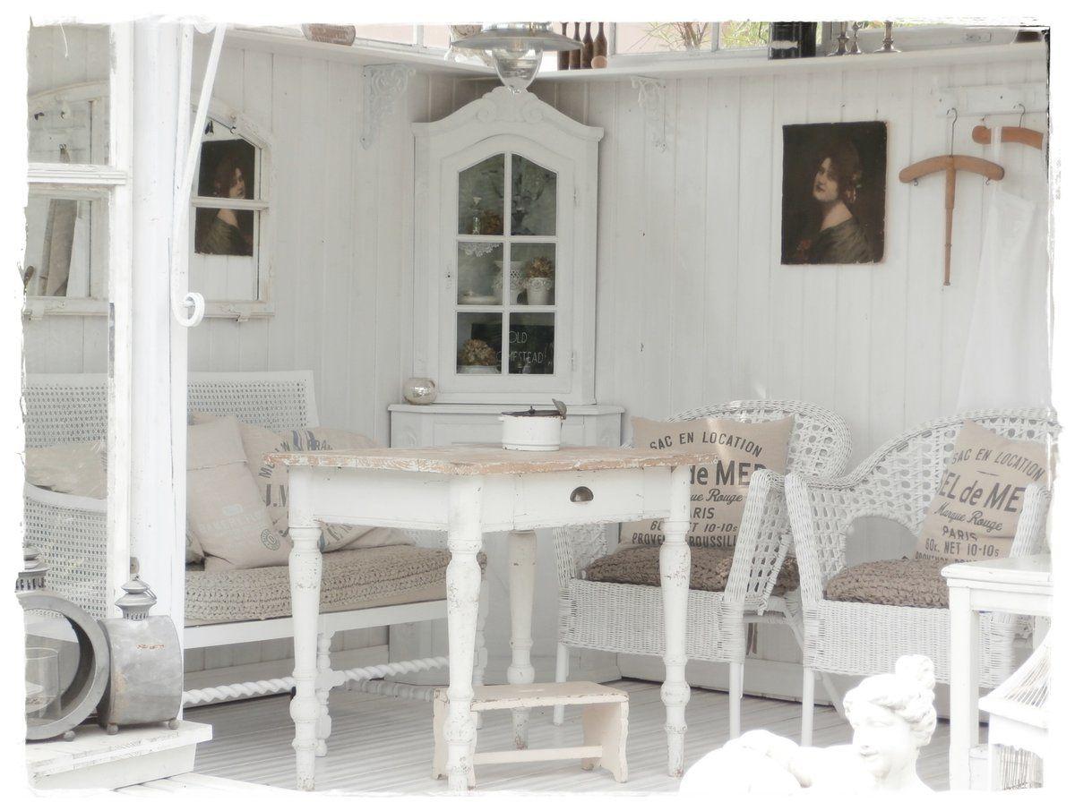 landhaus garten dekoration gartenlaube landhausstil gartenlaube deko ideen und