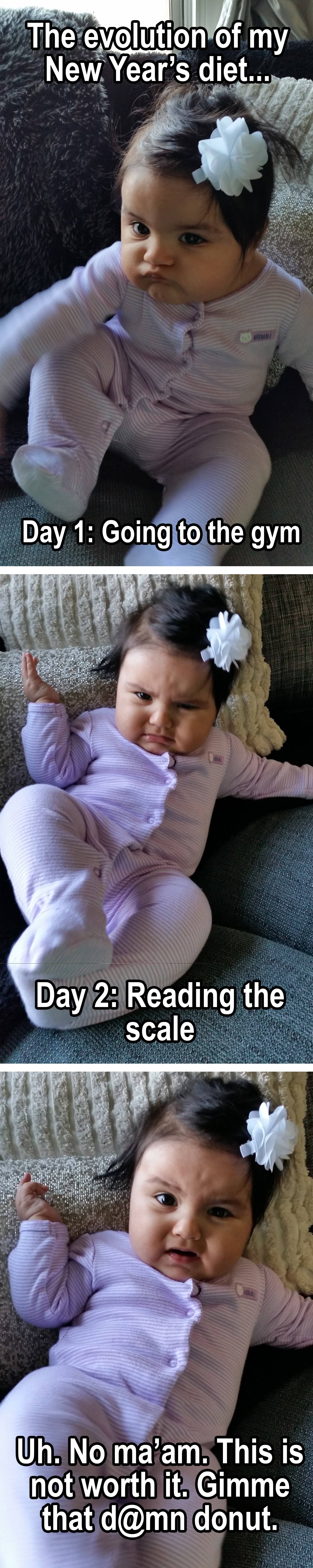 New years resolution baby meme funny/funnies ) Going