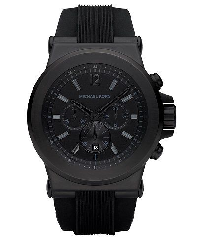 0d12eb0524ad Michael Kors Men s Dylan Black Silicone Strap Watch 45mm MK8152 ...