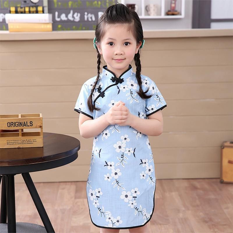 aceeec4ccba62 Girls dresses summer 2018 kids dresses for girls Chinese cheongsam ...