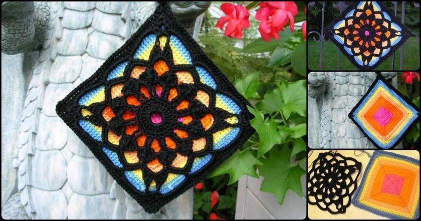 diy-crochet-square-afghan-block | Crochet y Punto de Cruz | Pinterest