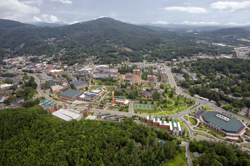 Campus of Appalachian State in Boone, NC