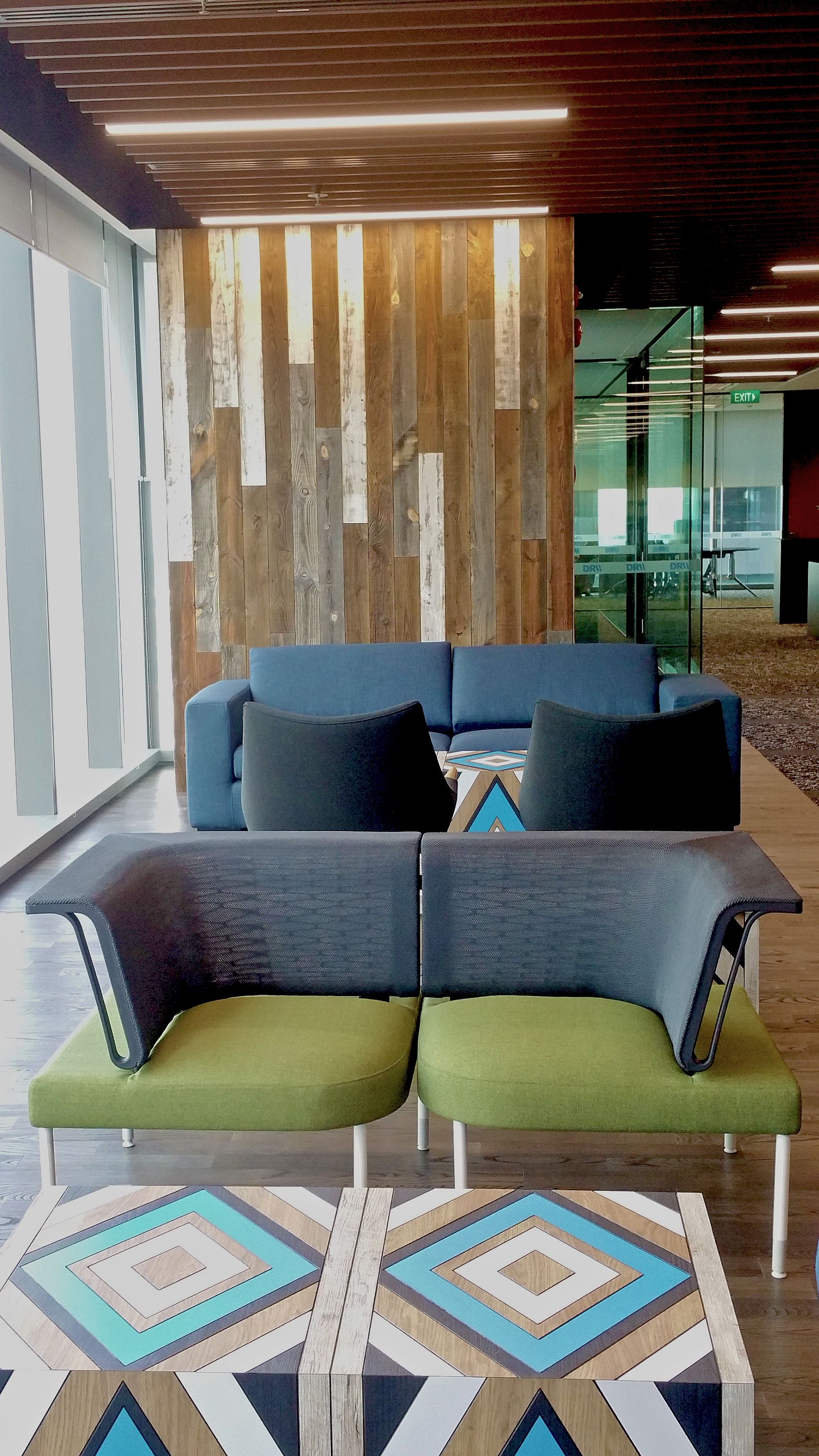 Citibank Tower Singapore Reclaimed Wood From Wyoming Snow Fences Reclaimedwoodusa Reclaimed Wood Paneling Reclaimed Wood Wood