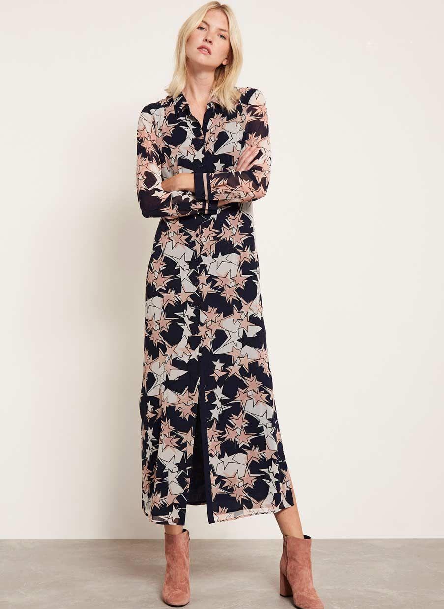 3ce80de924d3 Ava Print Maxi Dress in 2019 | NEW ARRIVALS | Pink midi dress ...