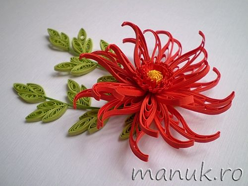 Quilled red dahlia quilling pinterest quilling paper quilling quilling flowers patterns homyachok quilling challenge 1 solo quilled red dahlia quilling mightylinksfo