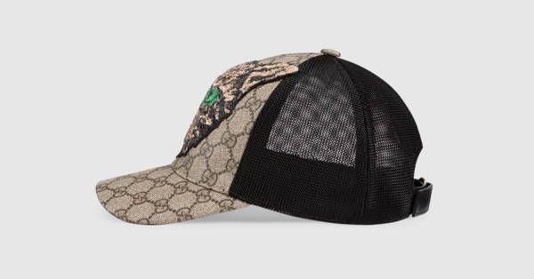 a188498a2e7 Gucci GG Supreme Mystic Cat baseball hat