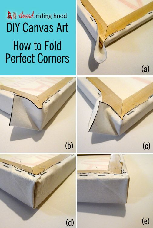 Diy canvas art or how to stretch a canvas with perfect corners in 6 easy steps a tutorial