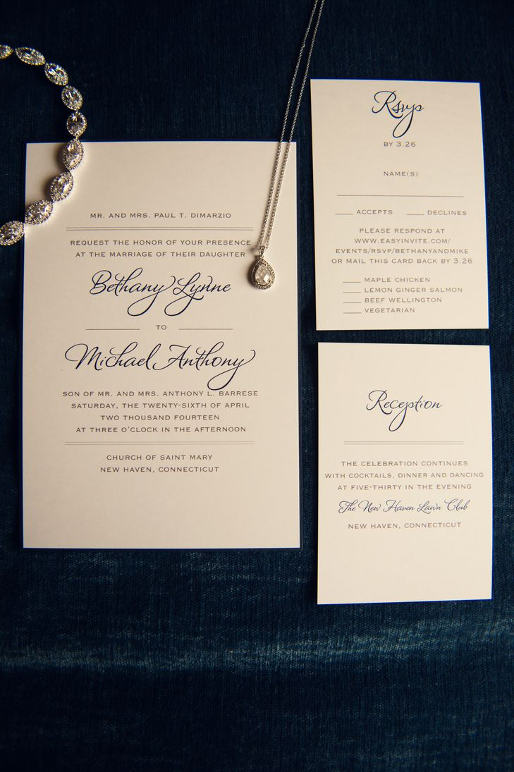 Traditional, Formal Wedding Invitations | Katie Slater Photography ...