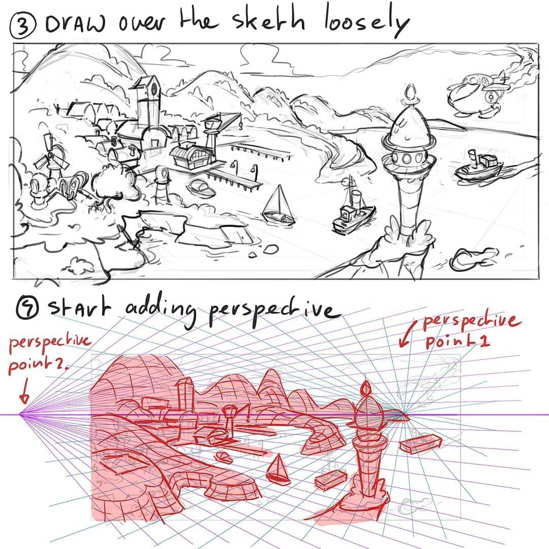Mitch Leeuweさんはinstagramを利用しています For The Perspective Background Book I Want To Make Some Different Types Of Cartoon Background Drawing Tutorial Comic Tutorial