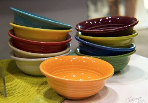 Fiesta Dinnerware NEW Fruit/Salsa Bowl available in all 15 colors. Learn more at the Fiesta blog .alwaysfestive.com. & Fiesta Dinnerware NEW Fruit/Salsa Bowl available in all 15 colors ...
