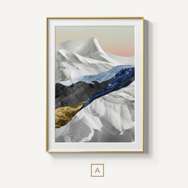 Modern Mountain Wilderness Wall Art Abstract Landscapes Fine Art Canvas Prints Cuadros Modernos Arte Abstracto Abstracto