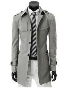 15eaaa8e651 Free Shipping Men s Long Coat High Quality Blend Shoulder Trench Jacket  Badges With Belt Single breasted Plus Size M XXXL 912-in Trench from  Apparel ...