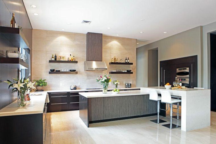 Cocinas Con Barra Americana 35 Disenos De Lujo Cocinas Con Salon - Cocinas-modernas-con-barra-americana
